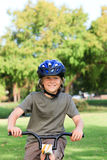 Little boy with his bike Stock Photo