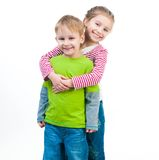 Little boy and his cute sister Stock Image