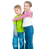 Little boy and his cute sister Royalty Free Stock Photo