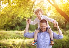 Little boy with his dad Royalty Free Stock Images