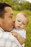 Little boy with his father on the nature Royalty Free Stock Images