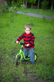 Little boy on his first bike Royalty Free Stock Image
