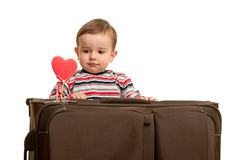 Little boy and his first valentine Royalty Free Stock Photography