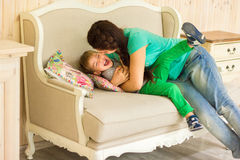 Little boy with his mother Royalty Free Stock Photos