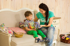Little boy with his mother Royalty Free Stock Images