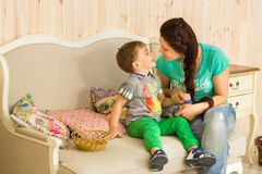 Little boy with his mother Royalty Free Stock Image