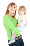 Little boy in his mothers arms Royalty Free Stock Image