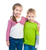 Little boy and his sister Royalty Free Stock Photo
