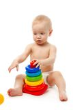 Little boy with his toys Stock Photography