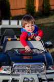 Little boy and his truck Royalty Free Stock Photos