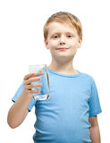 Little boy hold glass Royalty Free Stock Photo