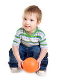 Little boy holding ball Stock Photography
