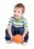 Little Boy Holding Ball Stock Photography