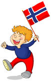Little boy holding Sweden flag Stock Photography