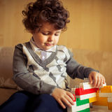 Little boy at home royalty free stock images