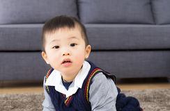 Little boy at home Stock Photography