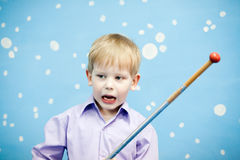 Little  boy at home. Bad behavior. aggression Stock Photography