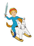 Little boy on the horse Royalty Free Stock Photo