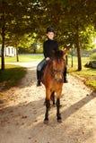 Little boy on horseback Royalty Free Stock Photo