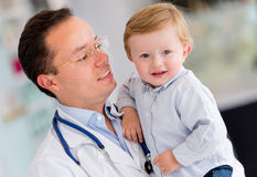 Little boy at the hospital Royalty Free Stock Photo