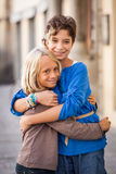 Little Boy i dziewczyna Obraz Stock