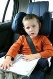 Little Boy In Car Stock Photography