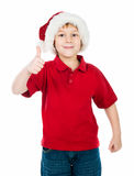 Little Boy In The Santa Claus Hat Stock Photography