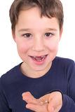 Little boy without incisors Royalty Free Stock Photo