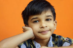 Little Boy indio Foto de archivo