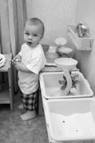 Little boy indoors Royalty Free Stock Images