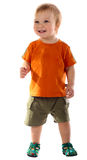 Little boy isolated. Little boy smiling isolated on the white stock images