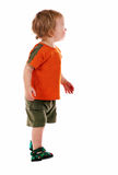 Little boy isolated. On the white royalty free stock images