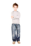 Little boy. Isolated in white Royalty Free Stock Image