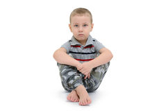 Little boy isolated on a white background Stock Image