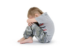 Little boy isolated on a white background Stock Photography