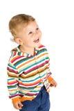 Little boy,  isolated white background Stock Photo