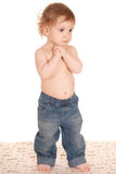 Little Boy in jeans Stock Image