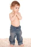 Little Boy in jeans Immagine Stock