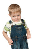 Little boy in jeans suit Stock Photos