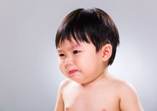Little boy jsut stop crying Royalty Free Stock Photo