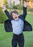 Little Boy Jumping Stock Photo