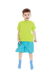 Little boy jumping Royalty Free Stock Photos