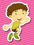 Little boy jumping up Royalty Free Stock Images