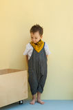 Little boy in a jumpsuit Royalty Free Stock Photography