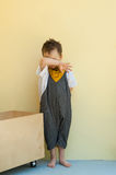Little boy in a jumpsuit Royalty Free Stock Photo