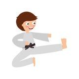 Little boy karateka icon Stock Images