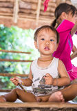 Little boy at Karen Long Neck hill tribe village in Chiang Mai, Thailand Royalty Free Stock Photography