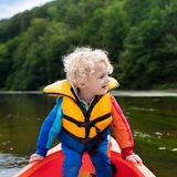 Little boy in kayak Royalty Free Stock Photography