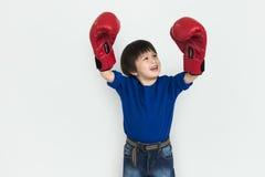 Little Boy-Kinderentzückendes nettes Verpacken-Porträt-Konzept lizenzfreies stockfoto