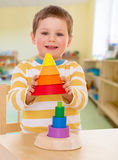 Little boy in kindergarten Royalty Free Stock Image